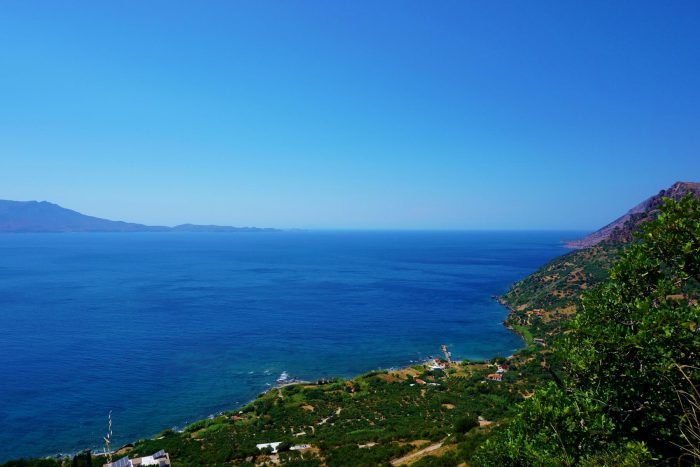 Plot with fantastic sea view west of Chania